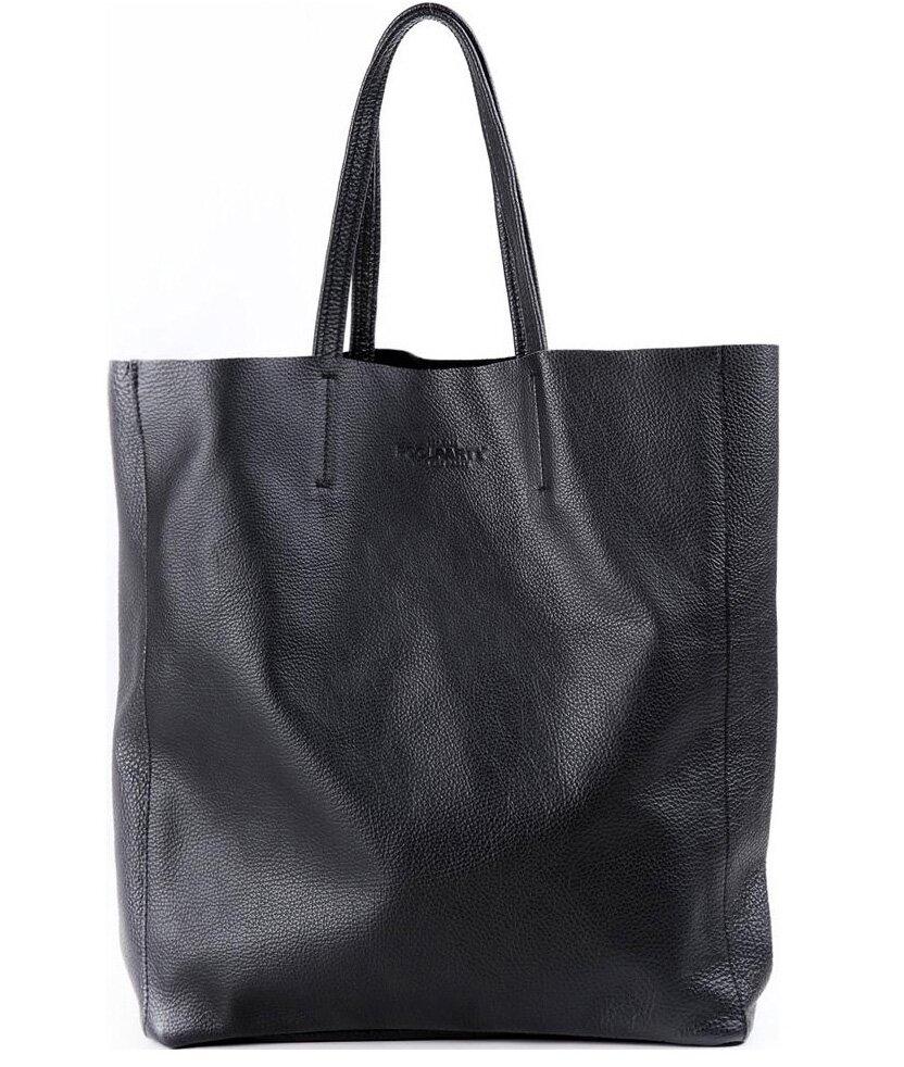 7278d6d1758b Большая кожаная городская сумка Poolparty city-black ...